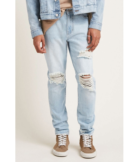 Imbracaminte Barbati Forever21 Distressed Slim-Fit Jeans DENIM WASHED