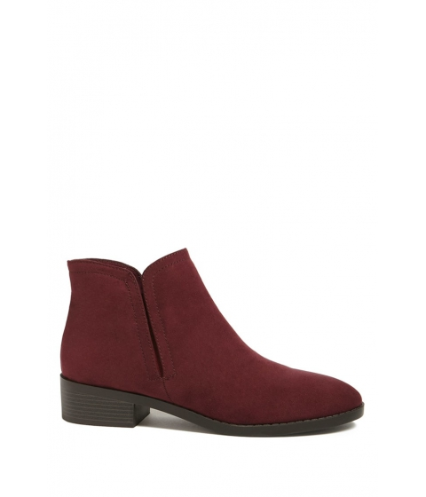 Incaltaminte Femei Forever21 Faux Suede Chelsea Boots BURGUNDY