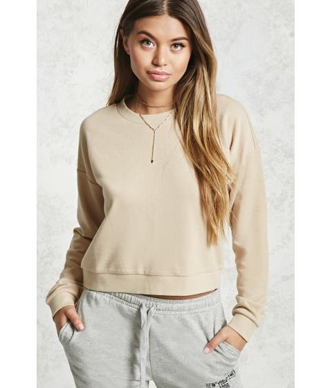Imbracaminte Femei Forever21 Basic Crew Neck Sweatshirt TAN