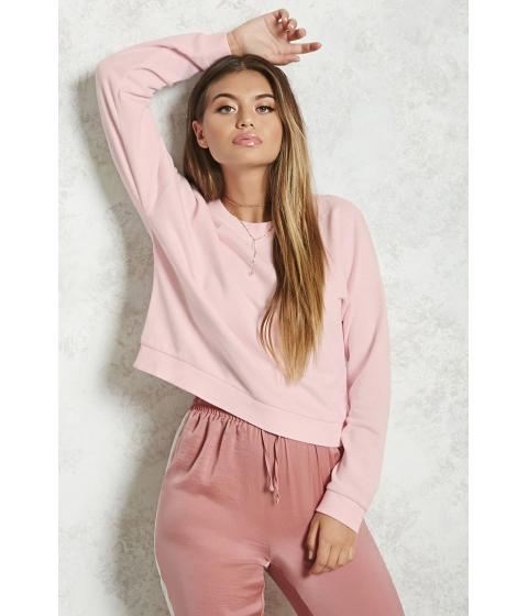 Imbracaminte Femei Forever21 Basic Crew Neck Sweatshirt LIGHT PINK