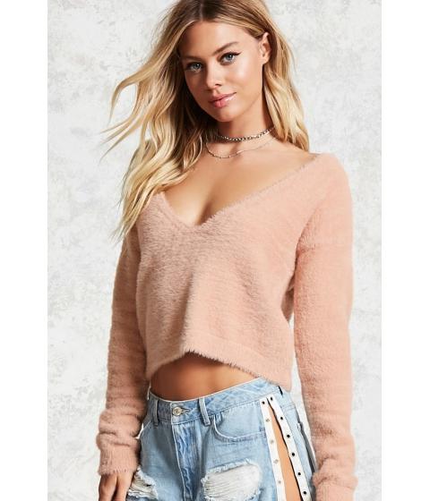 Imbracaminte Femei Forever21 Fuzzy Knit Sweater PINK