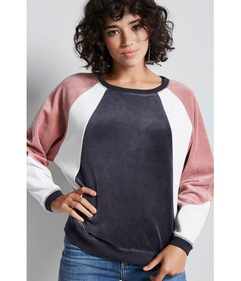 Imbracaminte Femei Forever21 Colorblock Fleece Pullover CHARCOALPINK
