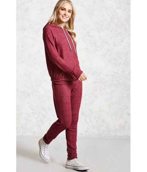 Imbracaminte Femei Forever21 French Terry Joggers BURGUNDY