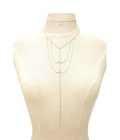 Bijuterii Femei Forever21 Choker Caged Necklace Set SILVER