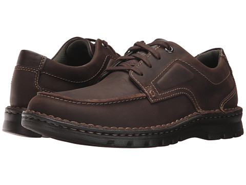 Incaltaminte Barbati Clarks Vanek Apron Dark Brown Leather