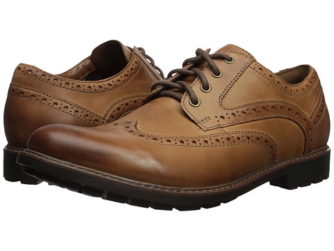 Incaltaminte Barbati Clarks Curington Wing Dark Tan
