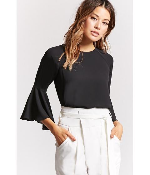 Imbracaminte Femei Forever21 Bell-Sleeve Top BLACK