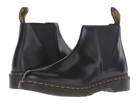 Incaltaminte Femei Dr Martens Bianca Low Shaft Zip Chelsea Black Polished Smooth