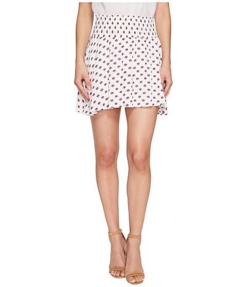Imbracaminte Femei BB Dakota Falana quotSaharan Geoquot Printed Crinkle Poly Smocked Skirt Bright White