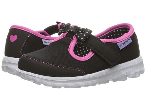 Incaltaminte Fete SKECHERS Go Walk - Bitty Bow (ToddlerLittle Kid) BlackHot Pink
