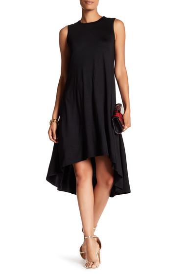 Imbracaminte Femei Trina Turk Riel Sleeveless Hi-Lo Dress BLACK
