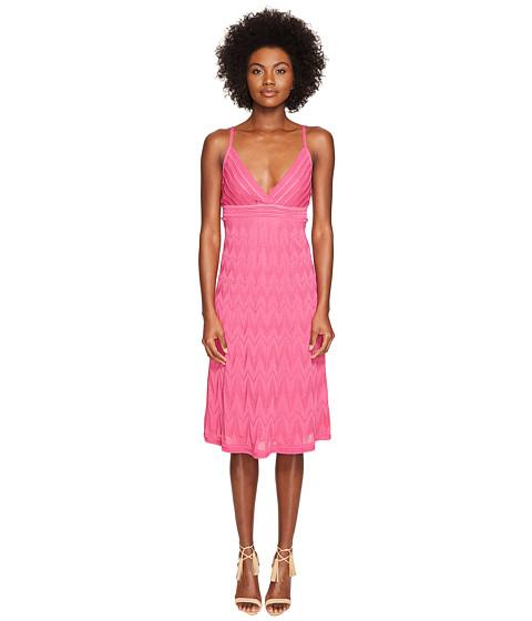 Imbracaminte Femei Missoni Solid Knit Skinny Strap Dress Pink