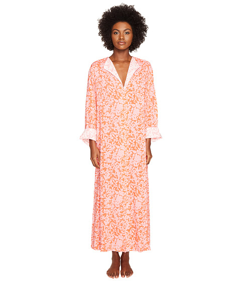 Imbracaminte Femei Oscar de la Renta Print Caftan Orange Shadow Print