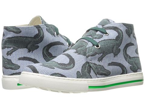 Incaltaminte Baieti Stella McCartney Alonzo High Top Alligator Print Sneakers (Little KidBig Kid) Blue Stripe