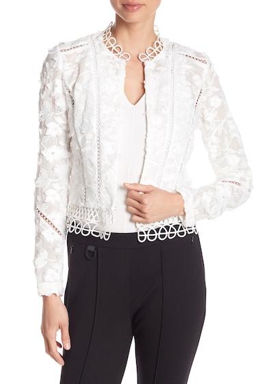 Imbracaminte Femei Elie Tahari Leanne Embroidered Jacket WHITE