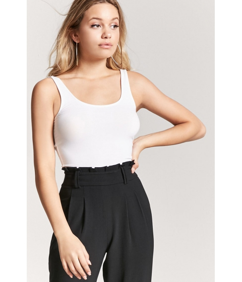Imbracaminte Femei Forever21 Cropped Tank Top WHITE