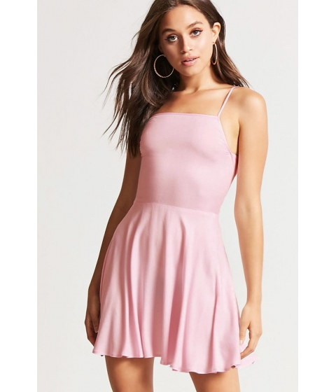 Imbracaminte Femei Forever21 Cutout-Back Cami Swing Dress LIGHT PINK