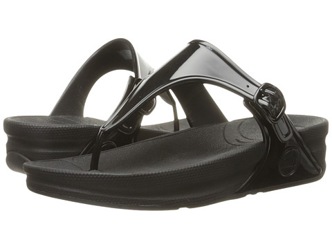 Incaltaminte Femei FitFlop Super Jelly All Black