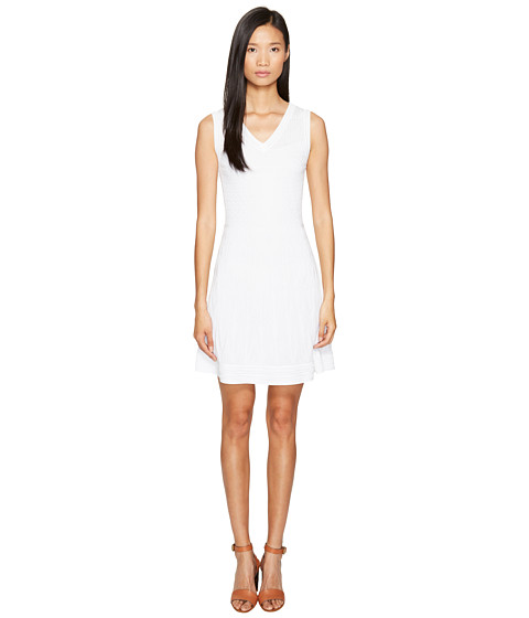 Imbracaminte Femei Missoni Solid Knit Sleeveless V-Neck Dress White