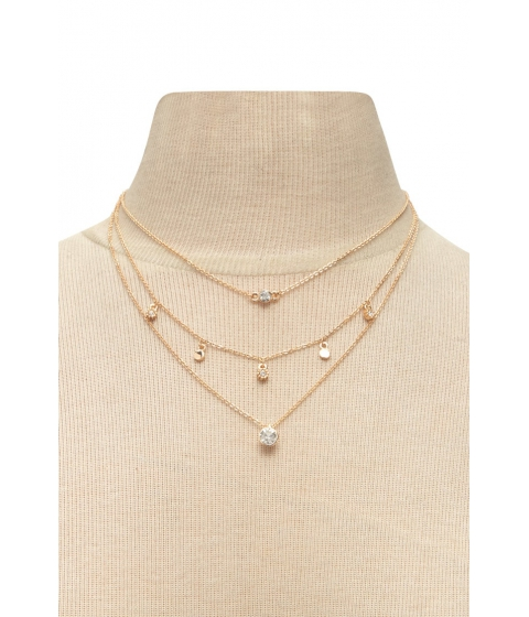 Bijuterii Femei Forever21 Layered Charm Necklace GOLDCLEAR