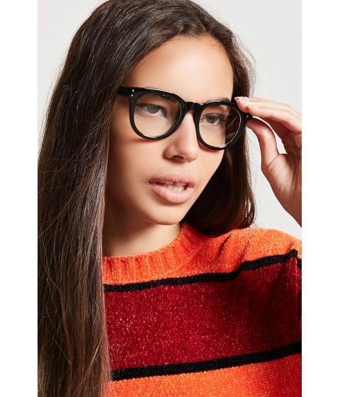 Ochelari Femei Forever21 Bold Round Reader Glasses BLACKCLEAR