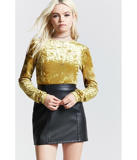 Imbracaminte Femei Forever21 Crushed Velvet Top GOLD