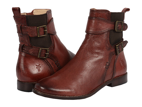 Incaltaminte Femei Frye Anna Gore Short Burnt Red Buffalo Leather