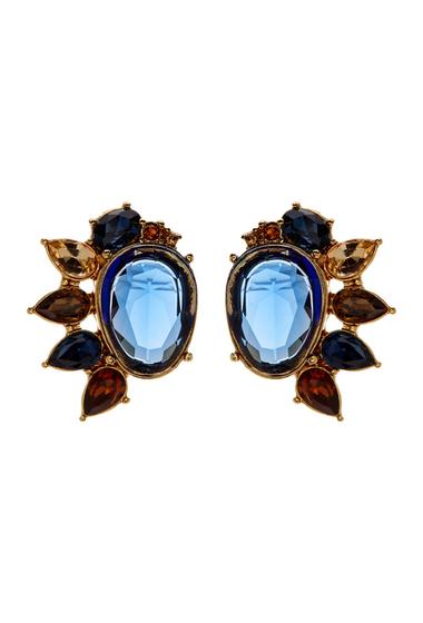 Accesorii Femei Carolee Multi-Cluster Stud Earrings GOLD-BLUE