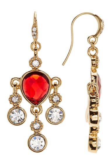 Accesorii Femei Carolee Multi-Stone Mini Chandelier Earrings GOLD-BURGUNDY