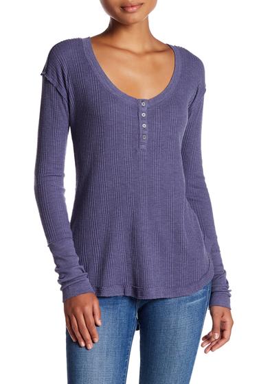 Imbracaminte Femei Melrose and Market Long Sleeve Thermal Shirt GREY STONE