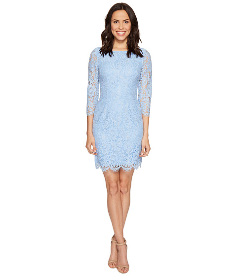 Imbracaminte Femei Adrianna Papell Long Sleeve Metallic Lace Sheath Dress Echo Blue