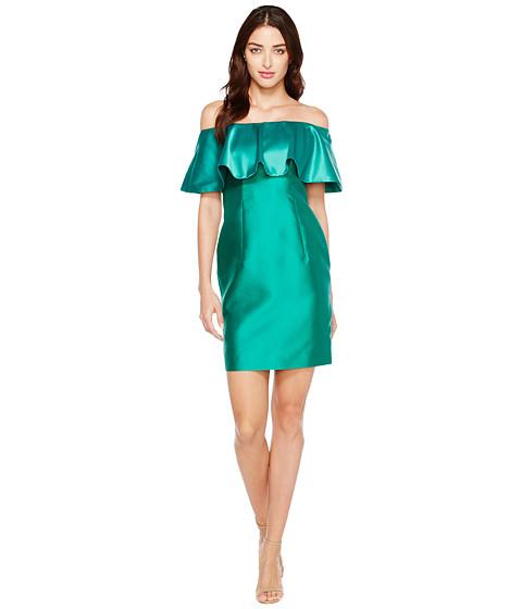 Imbracaminte Femei Adrianna Papell Fabric Combo Flounce Dress Vivid Emerald
