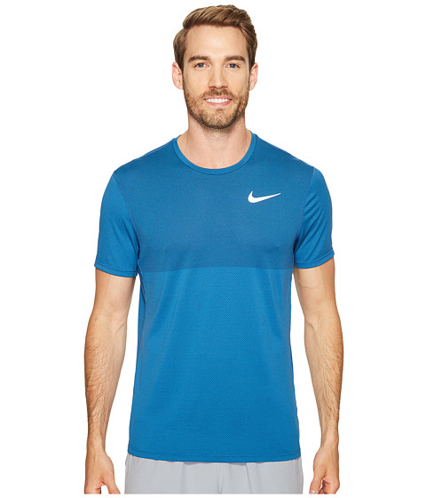Imbracaminte Barbati Nike Zonal Cooling Relay Short Sleeve Running Top Industrial Blue