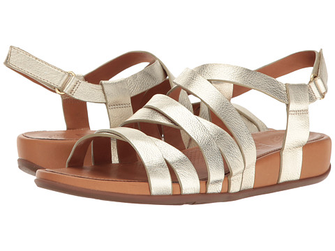 Incaltaminte Femei FitFlop Lumy Leather Sandal Pale Gold