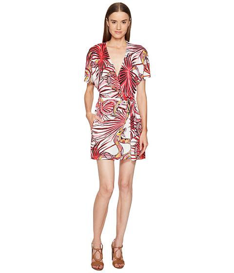 Imbracaminte Femei Just Cavalli Temptation Printed Wrap Dress Apricot Variant