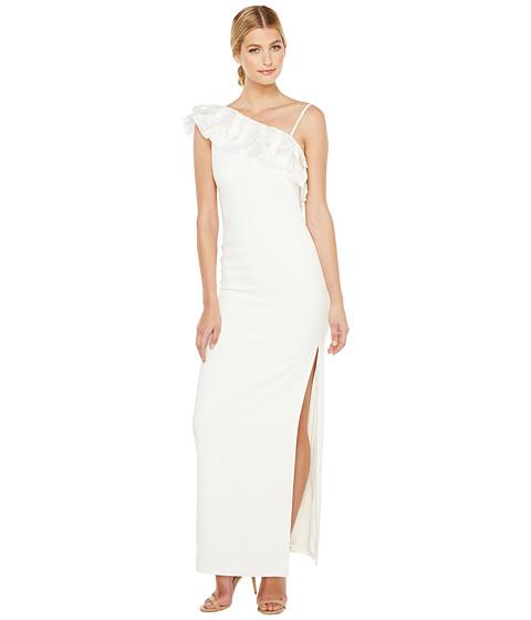 Imbracaminte Femei Badgley Mischka Asymmetrical Lace Trimmed Gown Light Ivory