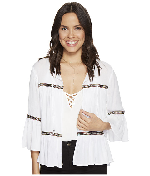 Imbracaminte Femei BB Dakota Doran Crinkle Rayone Jacket with Multicolor Ribbon Trim Bright White