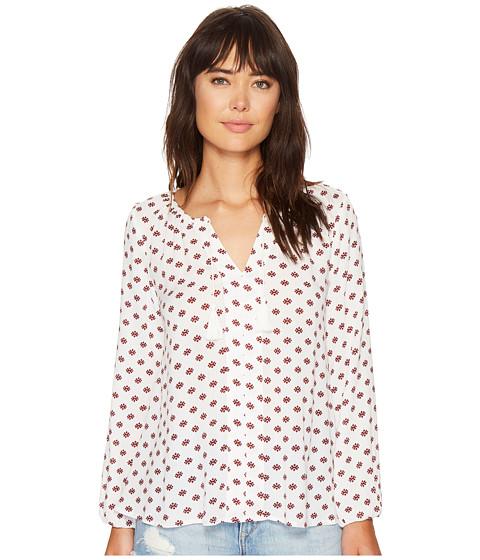 Imbracaminte Femei BB Dakota Brando quotSaharan Geoquot Printed Crinkle Top Bright White