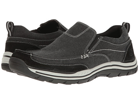 Incaltaminte Barbati SKECHERS Relaxed Fit Expected - Tomen Black Washed Canvas