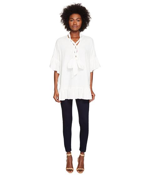 Imbracaminte Femei See by Chloe Cotton Tie Ruffle Tunic White