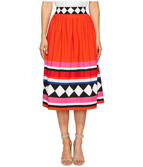 Imbracaminte Femei Kate Spade New York Geo Border Poplin Skirt Multi
