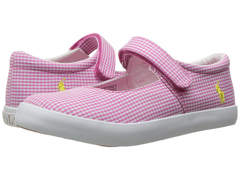 Incaltaminte Fete Polo Ralph Lauren Pippa (Little Kid) Pink GinghamWhite PP
