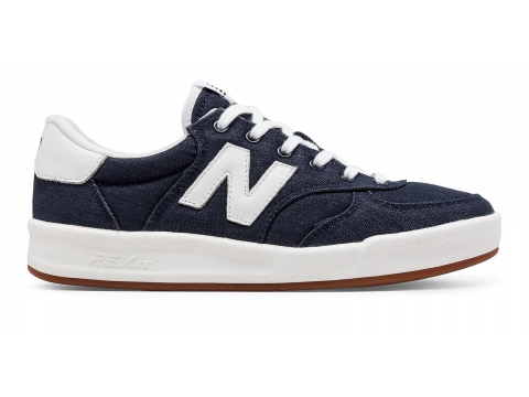 Incaltaminte Femei New Balance Womens 300 Cotton Denim Navy with White