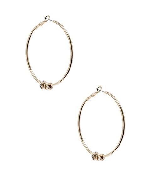 Bijuterii Femei GUESS Gold-Tone Beaded Hoop Earrings gold