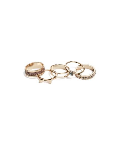 Bijuterii Femei GUESS Gold-Tone Bow Ring Set gold