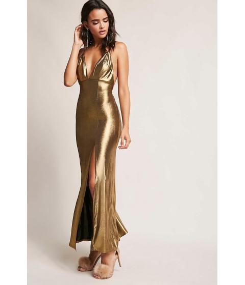 Imbracaminte Femei Forever21 Metallic Maxi Dress GOLD