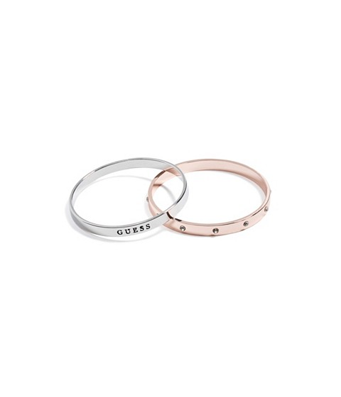 Bijuterii Femei GUESS Mixed Metal Bangle Set silver