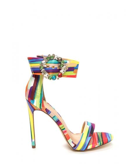 Incaltaminte Femei CheapChic Splendid Gems Striped Satin Heels Multi