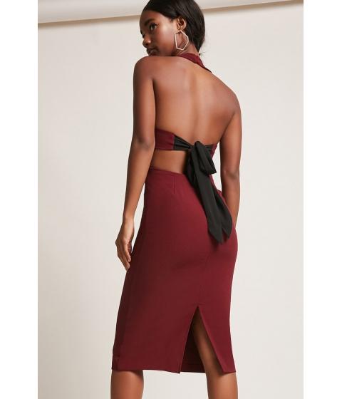 Imbracaminte Femei Forever21 Halter Contrast Dress MAGENTA