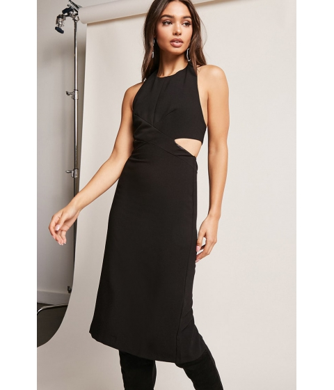 Imbracaminte Femei Forever21 Halter Contrast Dress BLACK
